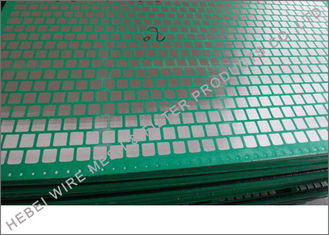 China Square Opening Fine Mesh Rock Shaker Screen , FSI Black Thunder Shale Shaker Screen supplier